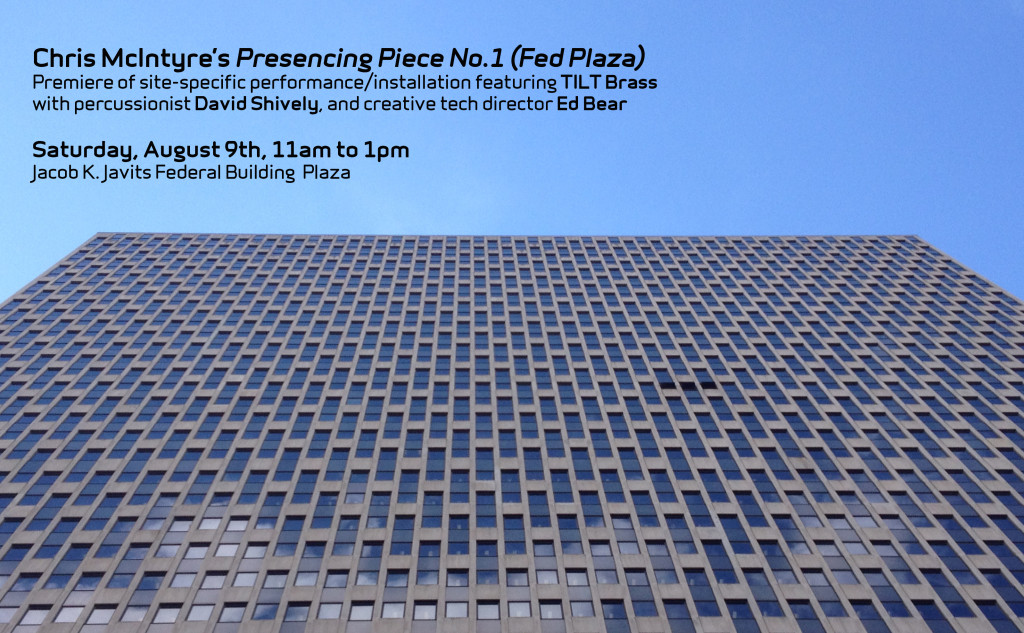 Presencing Piece No.1 (Fed Plaza), a site-specific work by TILT Director Chris McIntyre