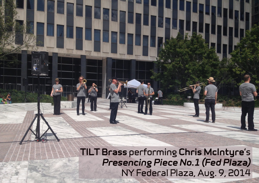 TILT Brass performs CJM's Presencing Piece No.1