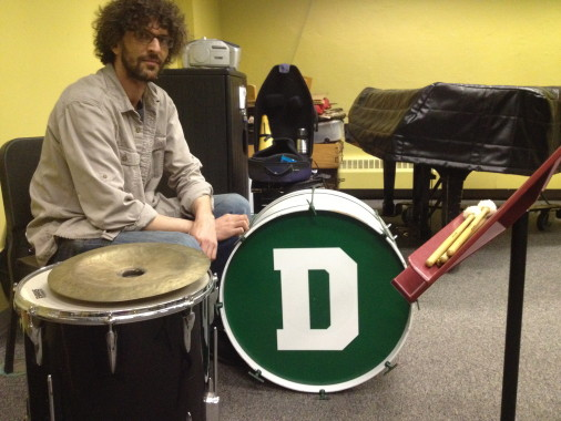 Dave Shively at rehearsal at Dartmouth
