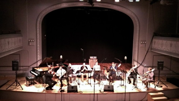 TILT Brass giving premiere of Christian Wolff's 'Octet', Sep. 10, 2013